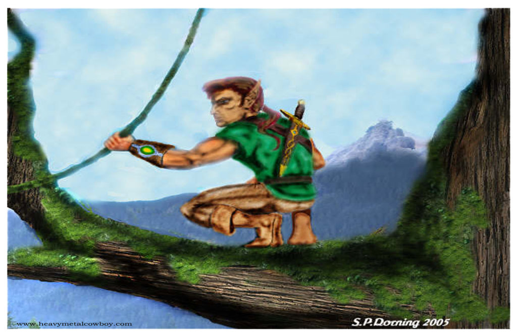 Elf Swordsman 17x11 HD - Copy