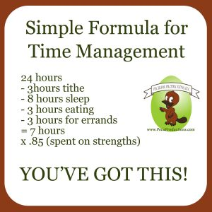 Breakdown time for time management